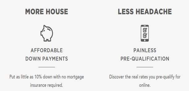 Screenshot of SoFi.com's mortgage offerings.