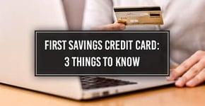 First Savings Credit Card (Login, Application, 5 Similar Cards)
