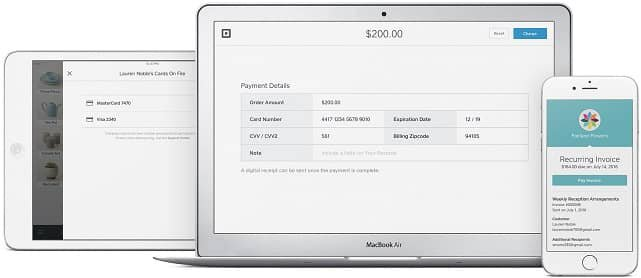 Screenshot of Square Products