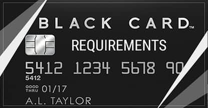 Visa Black Cards Requirements