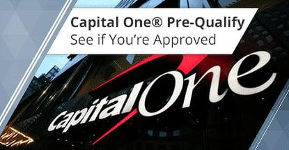 Capital One Pre Approval Pre Qualify