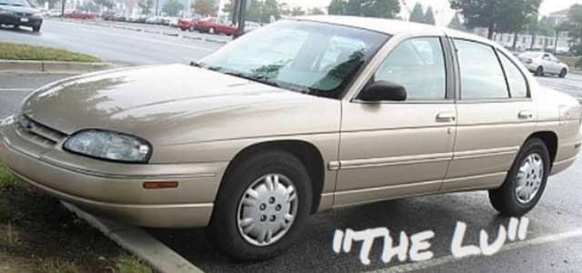 Jeff's grandmother's car, a 1998 Chevy Lumina