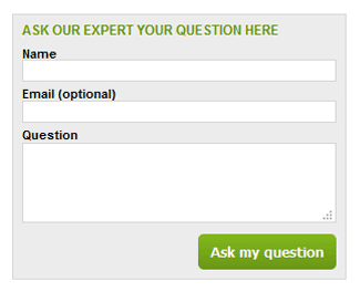 The MoneyRates Ask an Expert submission form
