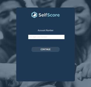 SelfScore's account login page