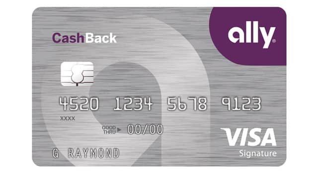 Image of the New Ally CashBack Credit Card