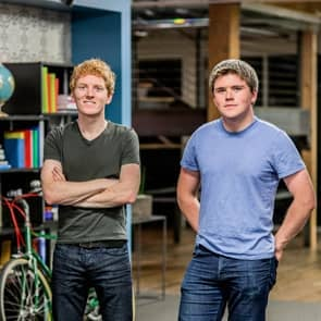Photo of Stripe Founders Patrick and John Collison