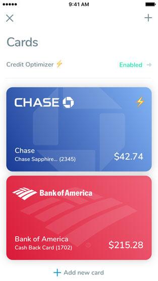 Mobile Screenshot of the Debitize Credit Optimizer