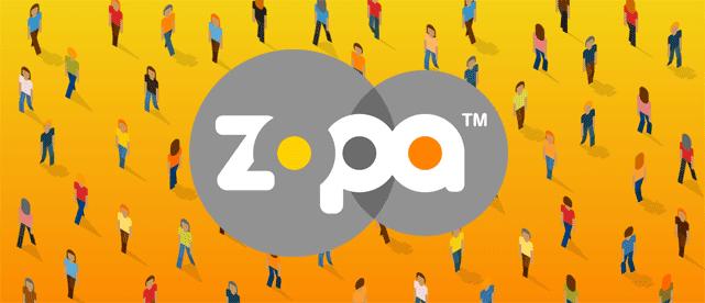 Illustration using the Zopa logo