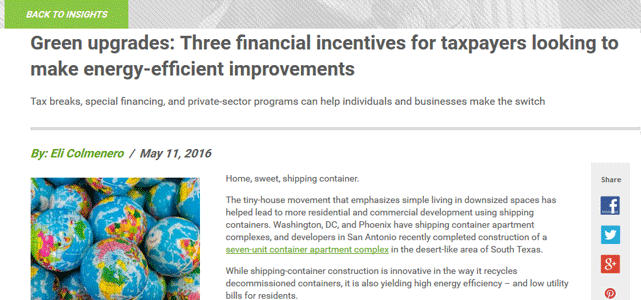 Screenshot of H&R Block Tax Institute Insights Article