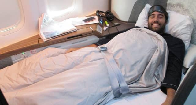 Photo of MileValue Scott Grimmer on Plane