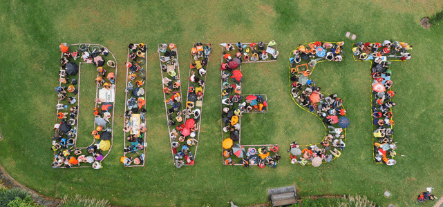 Photo of Protestors Calling for Fossil Fuel Divestment