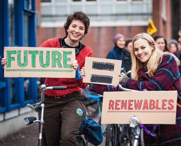 Photo of Renewable Energy Protestors