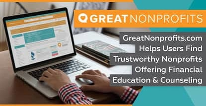 GreatNonprofits.com Helps Users Find Trustworthy Nonprofits Offering Financial Education & Counseling
