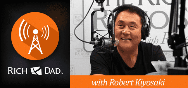 The Rich Dad Radio Show logo and photo of Robert Kiyosaki