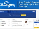 Streamline Your Workflow and Stop Chasing Payments with One-Step Sign & Pay Documents from DocuSign