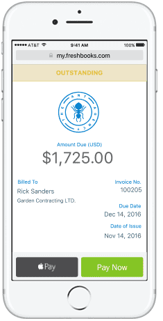 Screenshot of FreshBooks Mobile Application