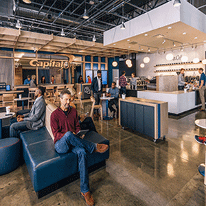 Photo of People in a Capital One Cafe