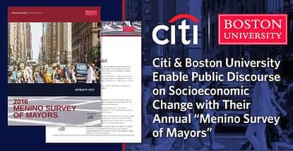Citi Supports Menino Survey Of Mayors