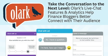 Finance Bloggers Conenct To Readers With Olark Live Chat