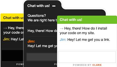 Screenshot of Olark Chat Bubble Color Options