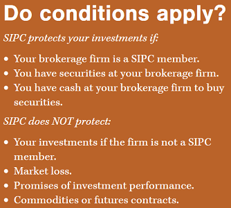 Screenshot of SIPC Claim Conditions