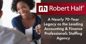 Robert Half — A Nearly 70-Year Legacy as the Leading Accounting & Finance Professionals Staffing Agency