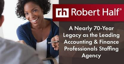Robert Half Leading Accounting And Finance Staffing Agency