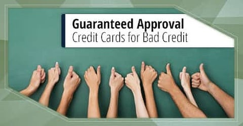 9 Guaranteed Approval Credit Cards For Bad Credit 2020