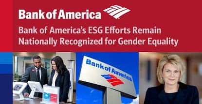Bank Of America Recognized For Gender Equality