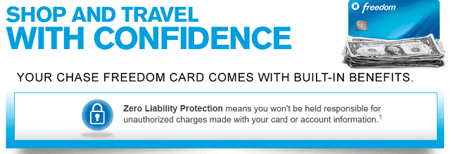 Screenshot of Chase Freedom Card Benefits Page