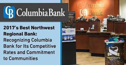 Columbia Bank Recognized As Best Northwest Regional Bank