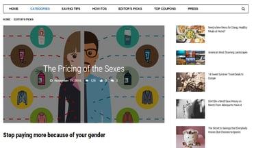 Screenshot of Couponbox blog
