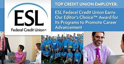 Esl Federal Credit Union Named Top Credit Union Employer