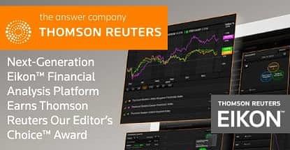 Next-Generation Eikon™ Financial Analysis Platform Earns Thomson Reuters Our Editor's Choice™ Award