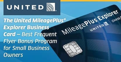 United Mileageplus Explorer Business Top Travel Card Smbs