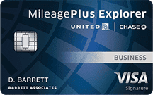 Image of a United MileagePlus Explorer Business Card