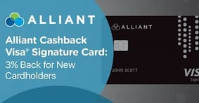 Alliant Credit Union's Cashback Visa® Signature Credit Card Earns Our Editor's Choice™ Award for 2017's Best Credit Union Cash Back Card