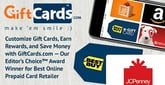 Customize Gift Cards, Earn Rewards, and Save Money with GiftCards.com — Our Editor's Choice™ Award Winner for Best Online Prepaid Card Retailer