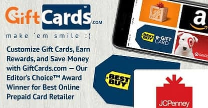 Giftcards Dot Com Earns Best Online Prepaid Card Retailer