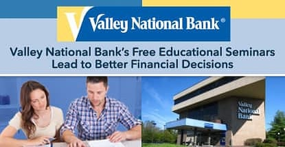 Valley National Bank Offers Free Financial Education Seminars