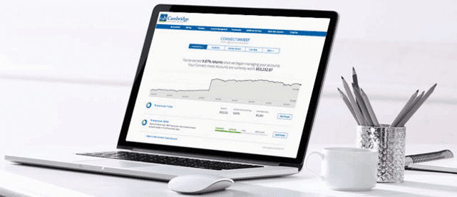 Image of Cambridge Savings Bank's Connect Invest application