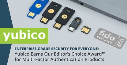 Yubico Earns Multi Factor Authentication Products Award
