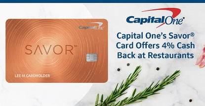 Capital One Savor Card Offers Unlimited Cash Back On Dining
