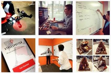 Screenshot of Zipfworks Instagram posts