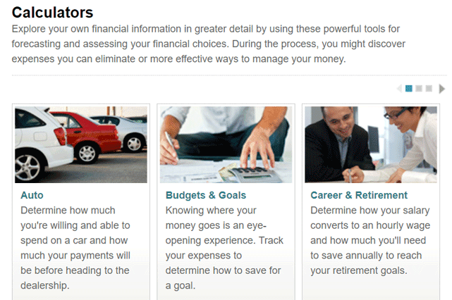 Screenshot from the Visa Practical Money Skills Canada Home Page