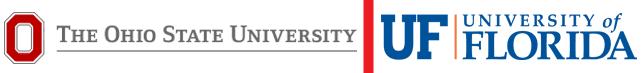 Collage of Ohio State University and University of Florida Logos