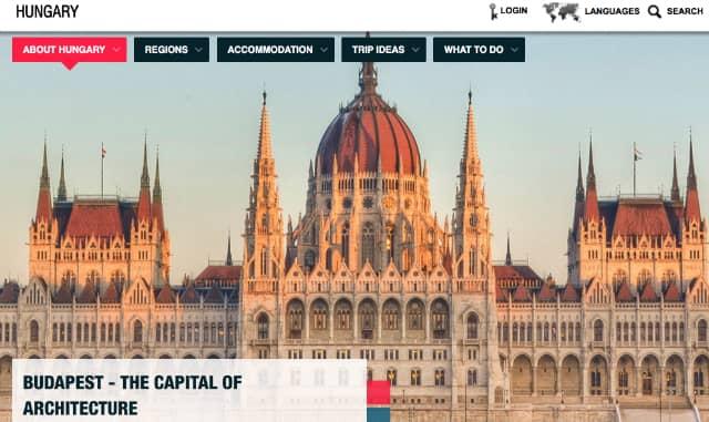 Screenshot of the GoToHungary.com Homepage