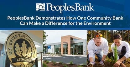 How Peoplesbank Makes A Difference For The Environment