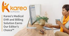 Kareo's Medical Billing Solution Earns Our Editor's Choice™ Award for Its Streamlined Credit Card Processing Abilities and Security