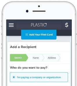 Screenshot of Plastiq's Mobile Application